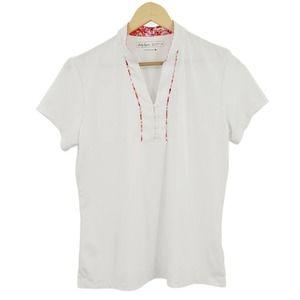Lady Hagen Hydro-Dri Polo Golf Shirt White Sz M